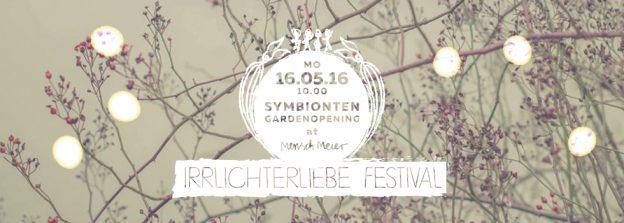 Flyer // Symbionten / Garden Opening at Mensch Meier