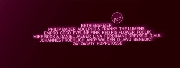Flyer Betriebsfeier at Hoppetosse